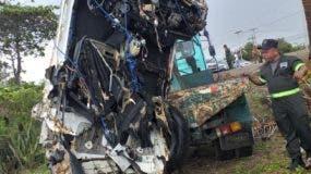 En estas condiciones fue recuperado el vehículo. Foto suministrada por la Policía Nacional.