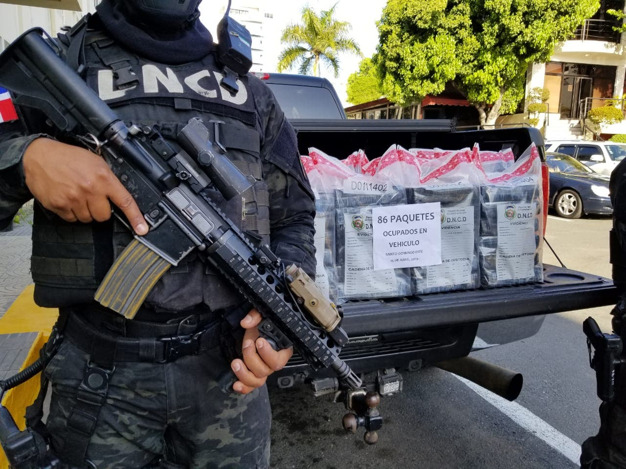 DNCD ocupa 86 paquetes de droga en Santo Domingo Este