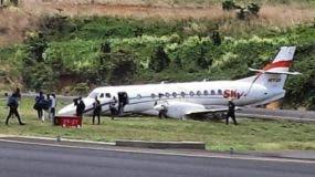 La aeronave accidentada es un avión BAE41, el cual despegó del aeropuerto Internacional de Las Américas, a las 10:29 de la mañana.