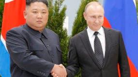 Kim Jong Un y  Vladimir Putin.AP