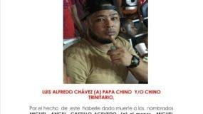 La Policía difundió hoy esta imagen del Luis Alfredo Chávez (prófugo).