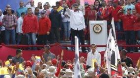 El presidente festejó ayer un año en el poder tras elecciones cuestionadas en Venezuela.