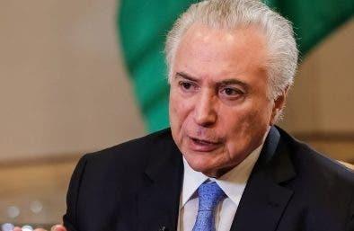 Michel  Temer está bajo investigación en Brasil.