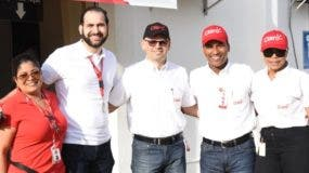 Mirna Herasme,  Emil Sangiovanni, José Moya, Melvin de León y Xiomara Aponte.