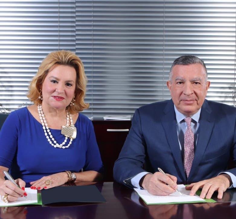 Ana Isabel Messina y  Ricardo Pellerano.