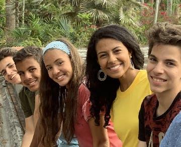 Jóvenes participantes.