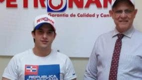Jimmy Llibre Jr.  junto a Juan  Ignacio Espaillat. externa