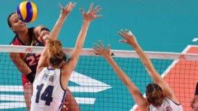 La acción corresponde al partido entre Italia y República Dominicana.