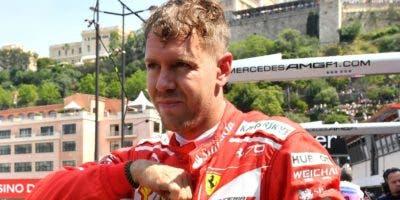 Sebastian Vettel afina los motores para el GP Mónaco.