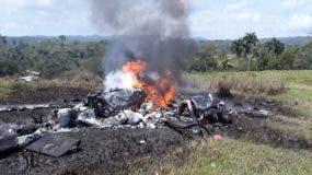 Aeronave quedó totalmente destruida. fuente externa