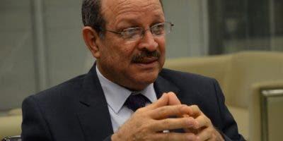 René Jáquez Gil, director ejecutivo del Instituto Nacional de Bienestar Estudiantil (Inabie), durante su participación en los Coloquios de EL DÍA.  José de  León.