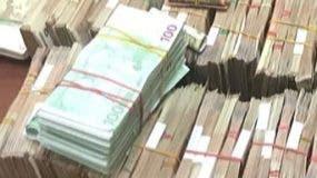 Dinero incautado a los extranjeros. fuente externa