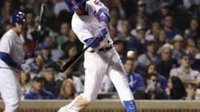 El tercera base, Kris Bryant, bateó de 4-2 y pegó su cuarto jonrón con las bases llenas de por vida en la octava entrada.