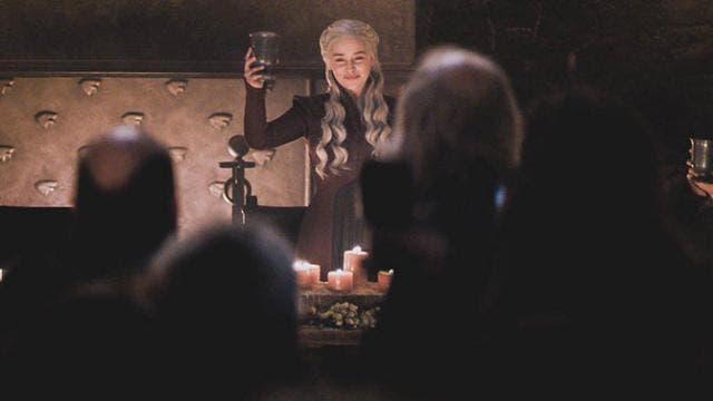 Escena de la serie Juego de Tronos.