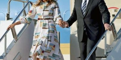 Trump y la primera dama, Melania Trump, llegaron a Tokio poco después de las 17:00 horas del sábado luego de un viaje de 14 horas a bordo del avión presidencial Air Force One