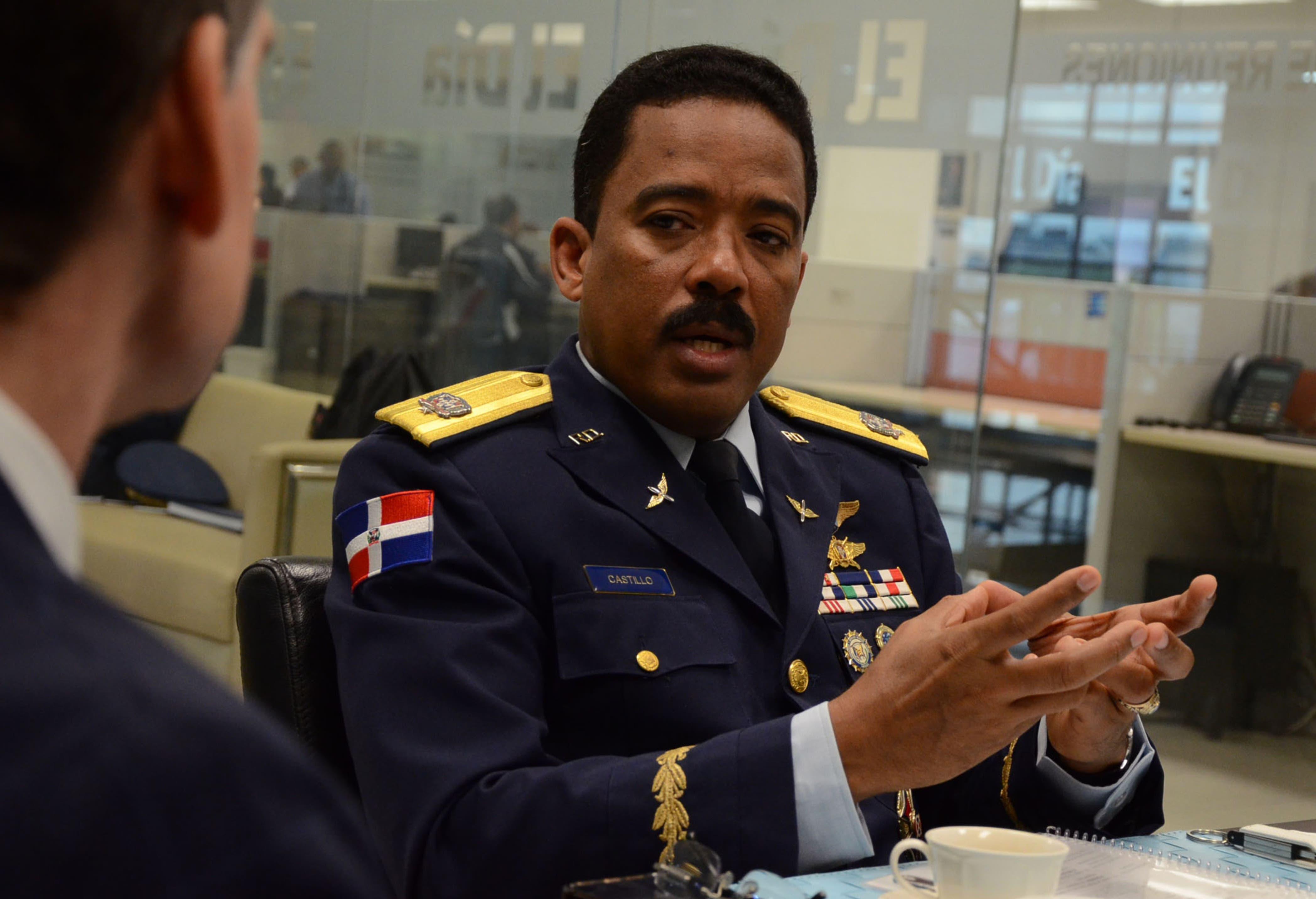 General   Aracenis Castillo,  director del Cesac.