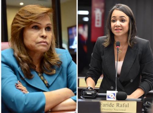 Sonia Mateo y Faride Raful.