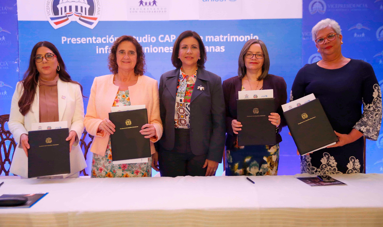 Vicepresidencia trabaja junto a organismos internacionales para prohibir el matrimonio infantil