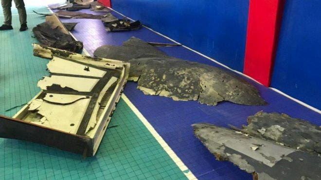 La televisión iraní divulgó imágenes de lo que identificó como los restos del dron de Estados Unidos.