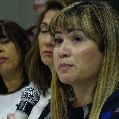 Diana Ramírez, durante la rueda de prensa. Elieser tapia