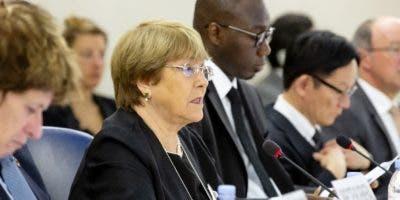 Michelle Bachelet inauguró el Consejo de Derechos Humanos que inició ayer en Ginebra.