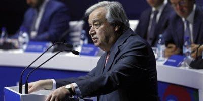 El secretario general de la ONU en Lisboa. efe