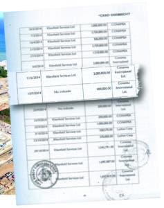 Relación de pagos realizados por Odebrecht a empresa de Ángel Rondón muestra exclusión de agosto 2014.