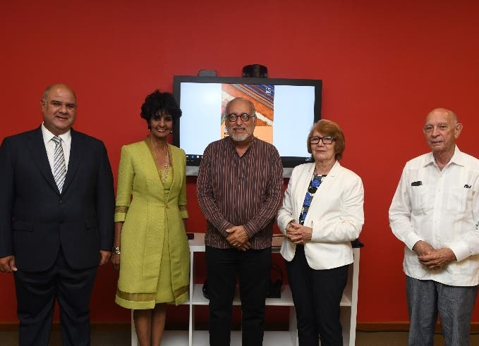 Jorge Haché, Elsa Núñez, Luis Felipe Rodríguez,  Marianne de Tolentino y John Haché