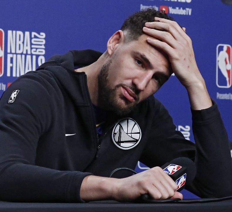 Alarmas encendidas en los Warriors por posible lesión de Klay Thompson