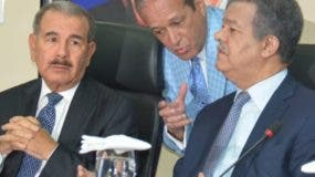 Danilo Medina, Reinaldo Pared Pérez y Leonel Fernández.