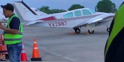 La avioneta es tipo BE-58 , matrícula YV2887