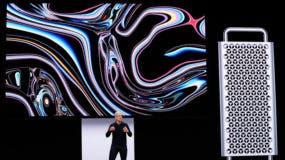 El CEO de Apple, Tim Cook, habla sobre la nueva Mac Pro durante la Conferencia Mundial de Desarrolladores en San José (California, EE.UU.), 3 de junio de 2019.