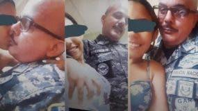 El general José Acosta Castellanos fue destituido de la comandancia de la Policía regional Santiago tras la publicación de estas fotos en las que aparece junto a la menor.