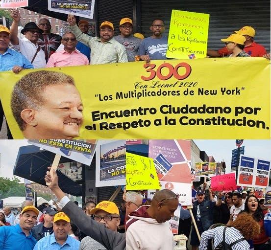 se-movilizan-en-ny-contra-intento-modificar-constitucion-rd
