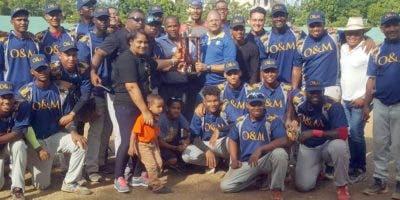 O&M campeón torneo béisbol doble A del DN 2019
