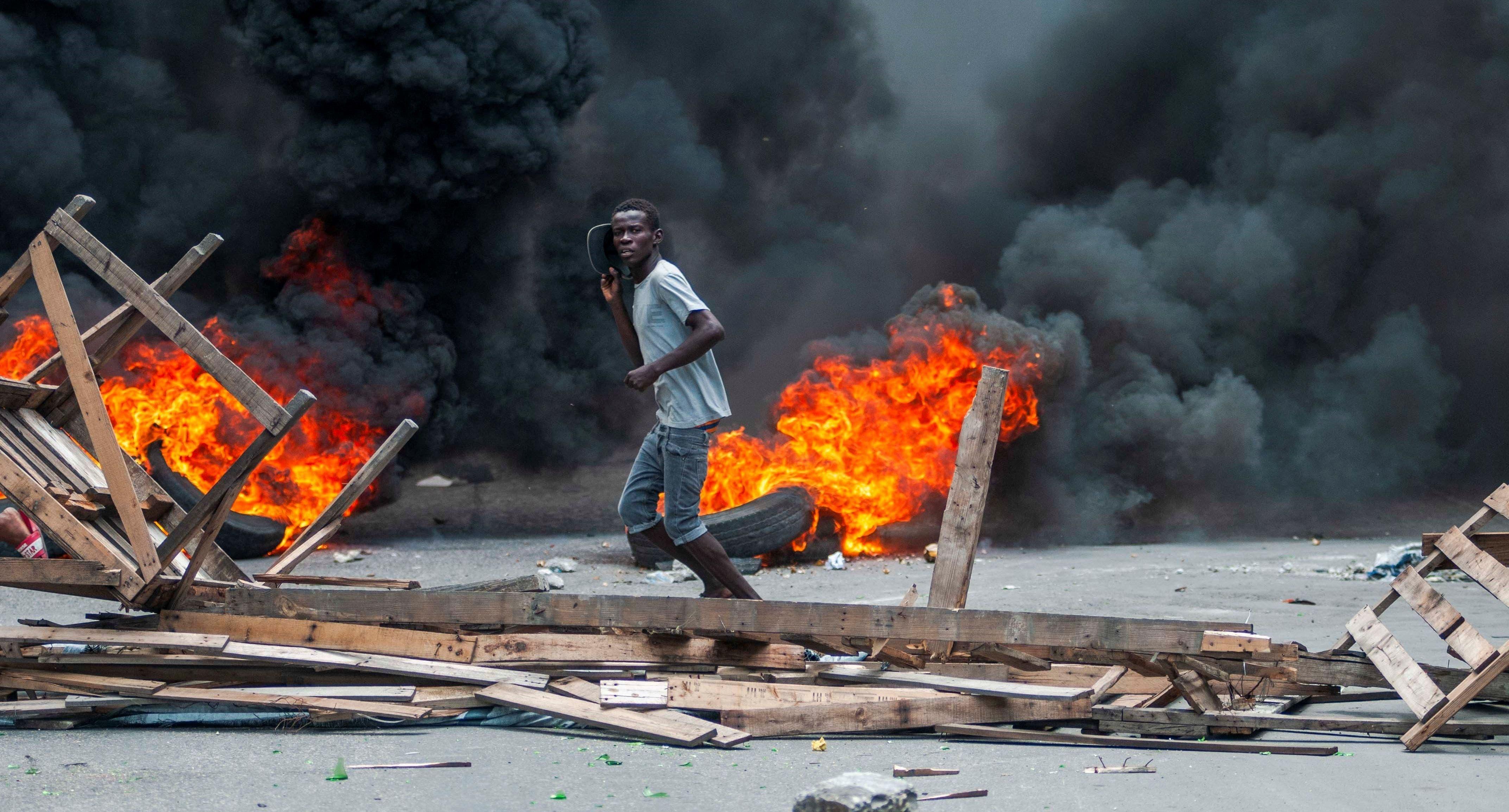 La capital de Haití se paraliza tras violentas manifestaciones del domingo