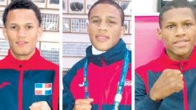 Leonel de los Santos, Emiliano Polanco y Rodrigo Marte combatirán hoy por el oro  en los Panam de Lima.  MANUEL JIMÉNEZ