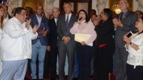 Los alcaldes fueron recibidos por Peralta y Gonzalo.