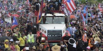 En las calles de Puerto Rico se mantienen las protestas para que renuncie Ricardo Rosselló.