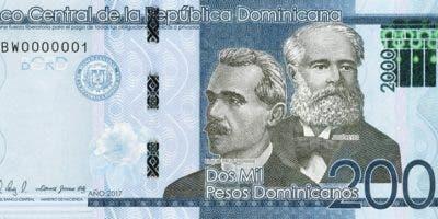 Nuevos billetes de RD$2,000 a partir de hoy.  foto agencia