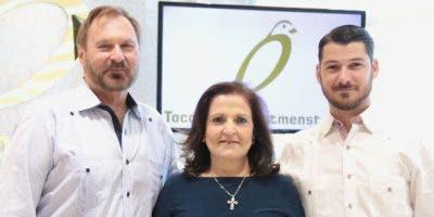 Marko Triebe, Rosa Arciero y  Diego Arciero.