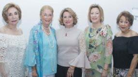 Alba Marra, Ana Rosina de Marranzini, Claudia Donati de Rivas, Julia de Simó y  Rosa Francia Monción.