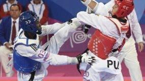 Bernardo Pie cayó  ayer  en su pelea por  el oro.   MANUEL JIMÉNEZ