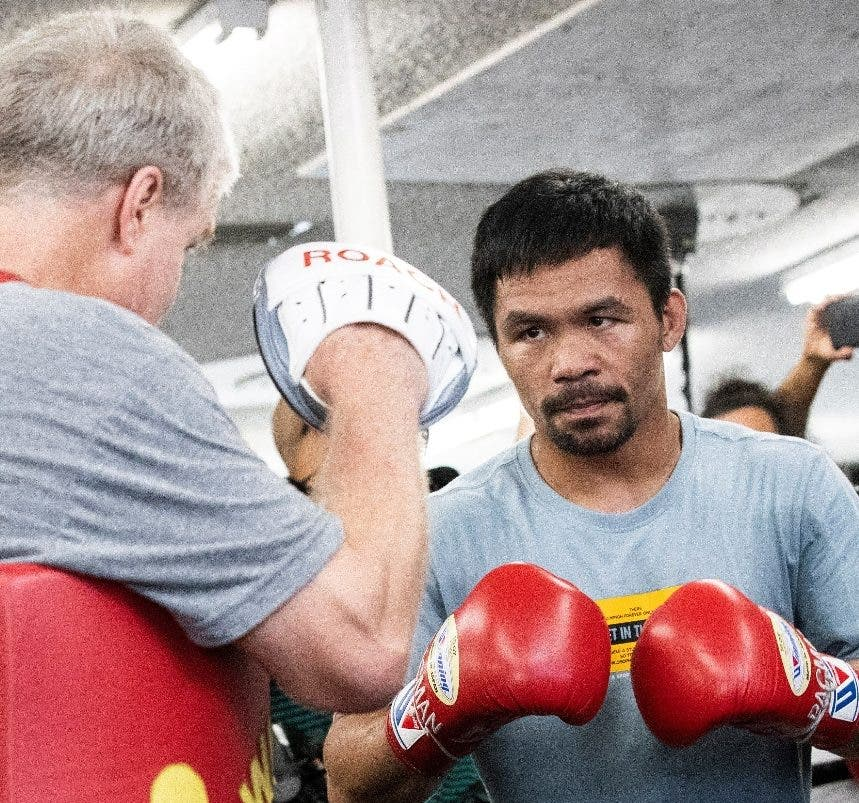 Manny Pacquiao está optimista para su combate.