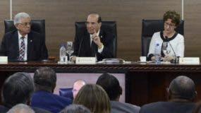 El pleno de la JCE realizó una audiencia públicas conPleno de la JCE durante una audiencia con partidos.  archivo