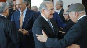 El presidente Medina estuvo acompañado   por varios ministros de su Gobierno.  fuente externa