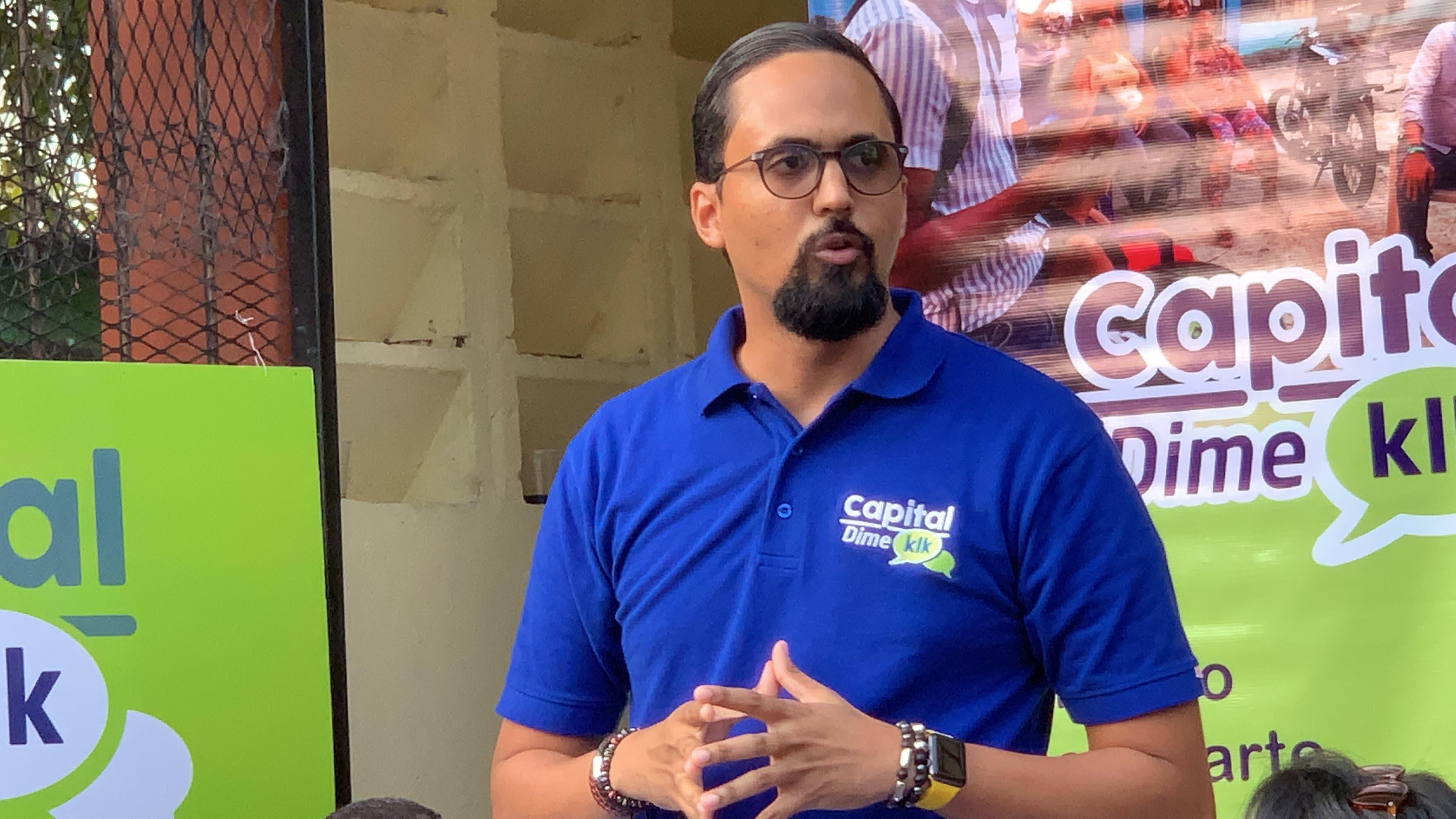 Bartolomé Pujals, candidato a alcalde por el Distrito Nacional.