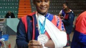 Crismery Santana se lesionó el codo izquierdo, a pesar de lo cual obtuvo medalla de plata en los Panamericanos de Lima-Perú 2019.