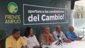 La Comisión Nacional Electoral del Partido Frente Amplio dejo abierto el proceso de inscripción de candidaturas en esa organización.