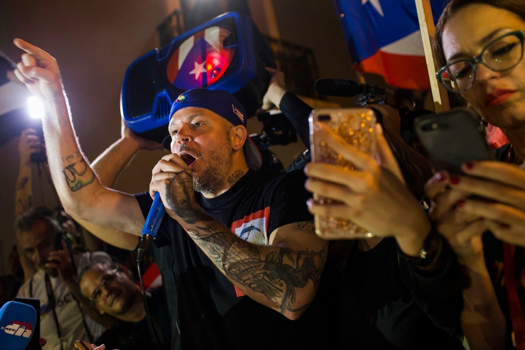 13. Artistas como Residente tuvieron un papel protagónico en las protestas contra Rosselló.
